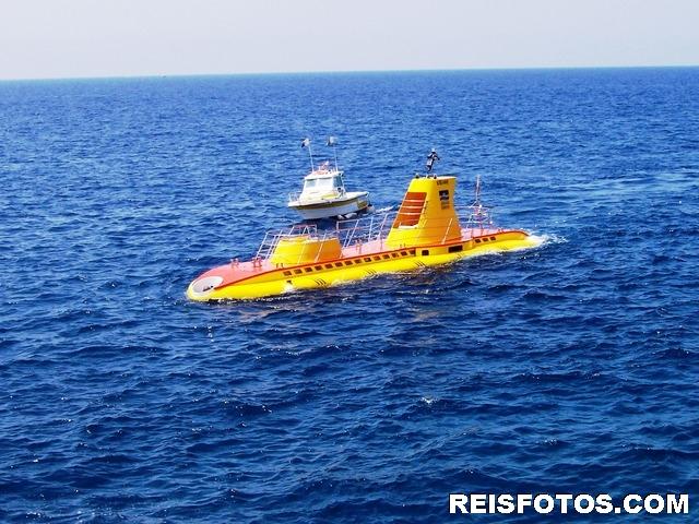 Onderzee boot in Porto de Mogan