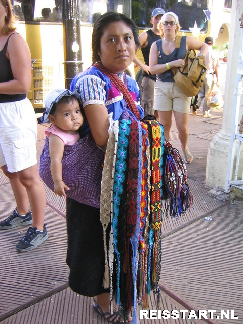 In de stad Merida, Mexico