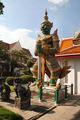 een wachter Wat Krue Wan