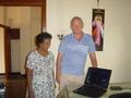 Laptop voor het Good Shepperd Convent in Pitipana