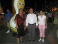 Mijn vrouw  met de burgemeester van Alanya
