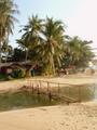 Bamboe bruggetje op Lamai Beach