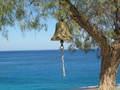 Uitzicht vanaf kustlijn in Karpathos