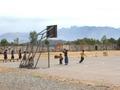 Kinderen op een schoolplein