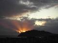 zelden geziene zonsondergang