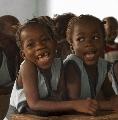 Schooltje in Gambia